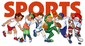 Sports Image with cartoon players playing